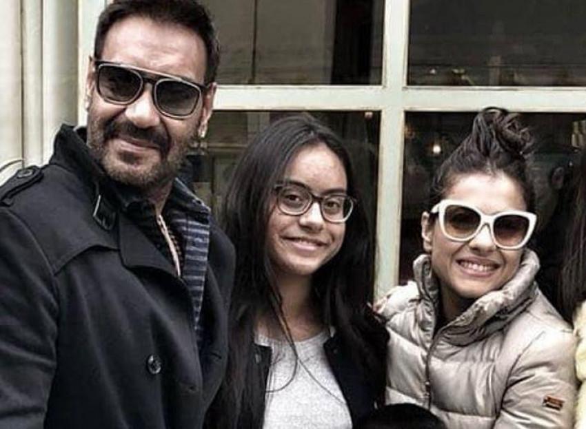 Ajay Devgn with Nysa Devgn h