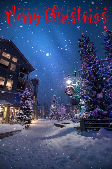 Merry Christmas Day Snow Edi