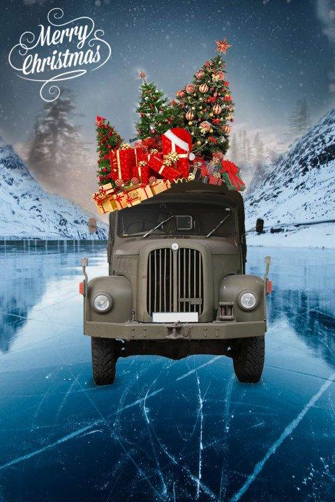 Merry Christmas PicsArt Edit