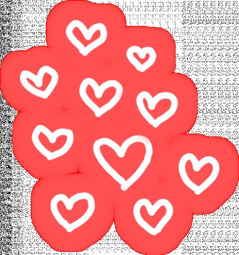 Neon Glowing Heart PNG Editi