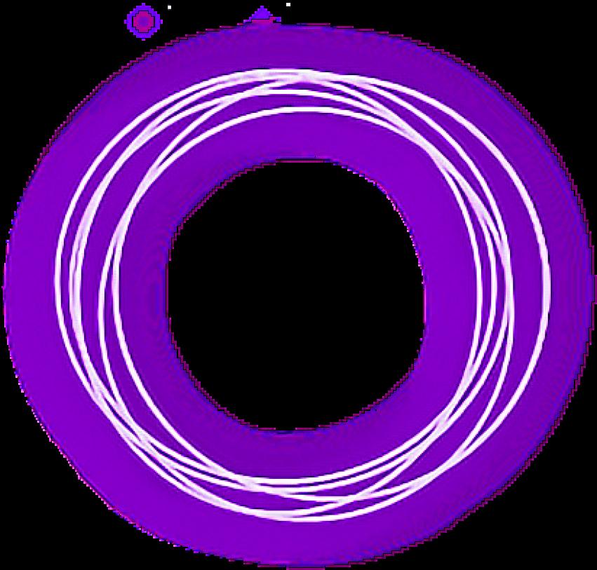 Neon O Circle Effect PNG Tra