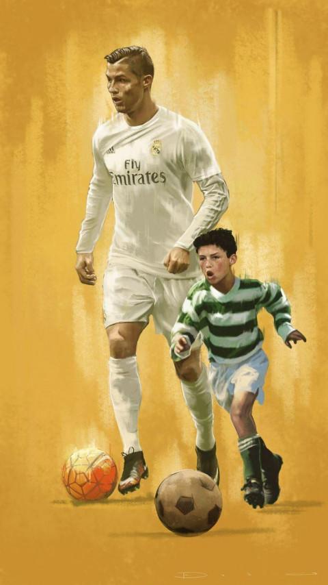 Cristiano Ronaldo And Jr Wal