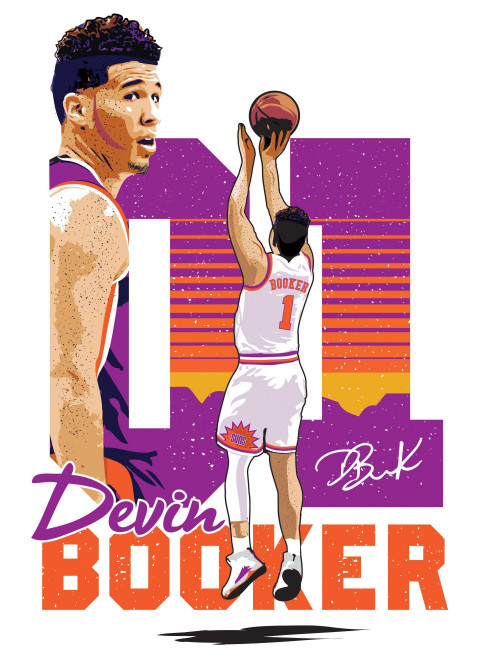 Devin Booker Suns iPhone Wal