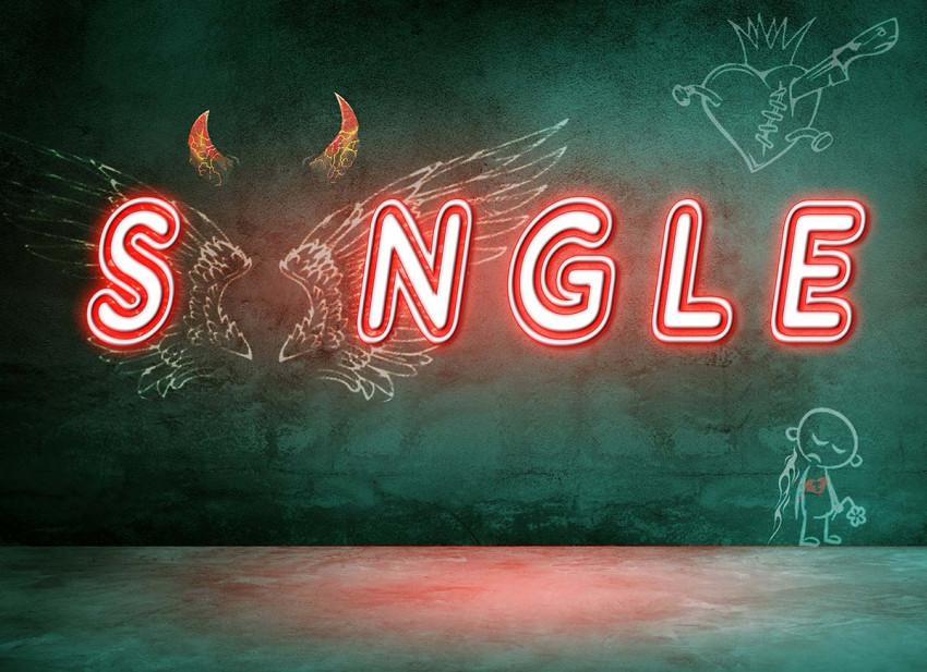 Single Love Happy Valentine'