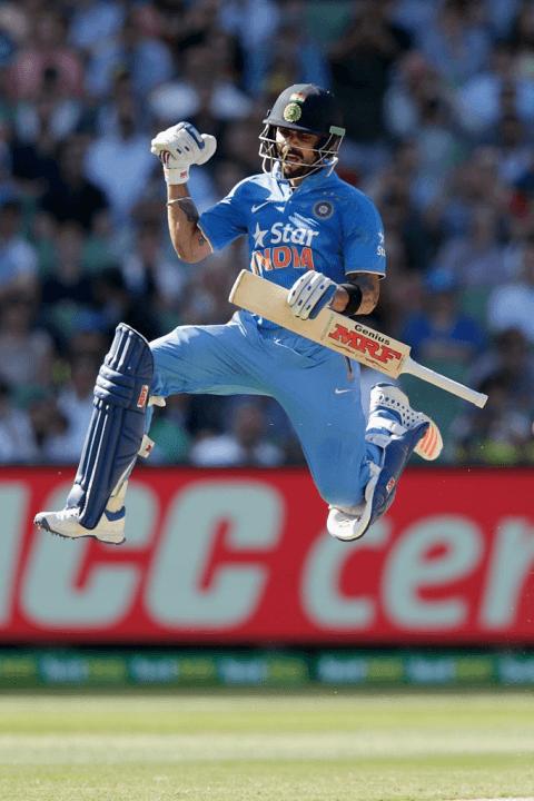 Virat Kohli Jumping after ce