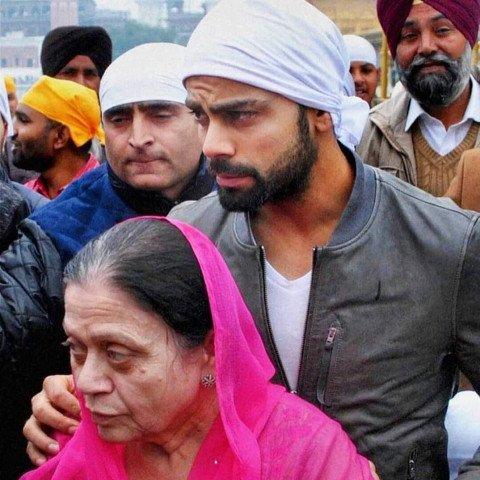 Virat Kohli with Mother Saro