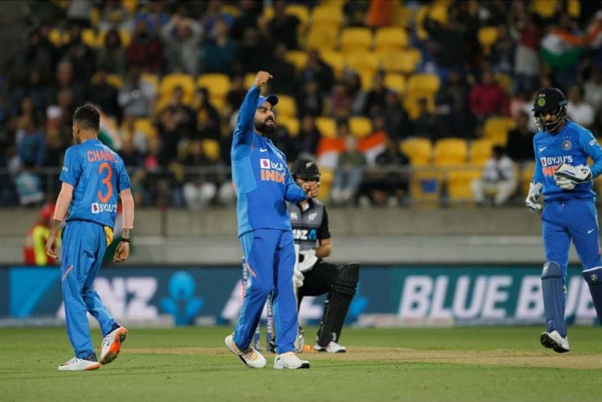 Virat Kohli In Ground Blue J