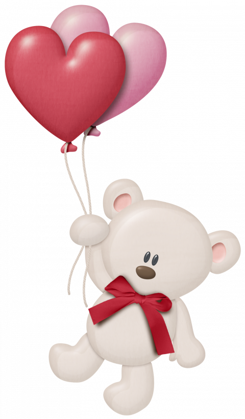 White Teddy Bear PNG Picture