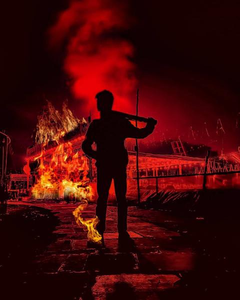 Picsart fire editing by Shub