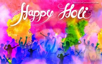 Happy Holi Editing Backgroun