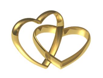 Wedding Golden Heart Ring Cl