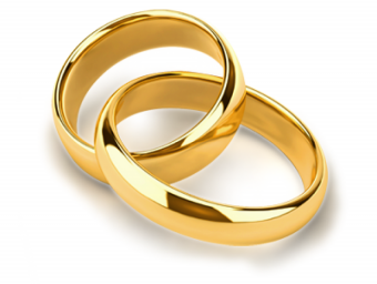 Wedding Golden Ring Clipart