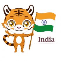 animal tiranga Indian Flag P