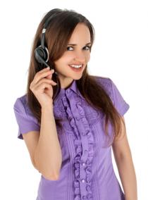 Woman Girl listening Music H