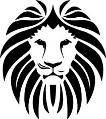Lion Head PNG FIle HD Blacj