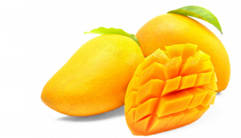 Sliced Mango Pieces PNG Vect