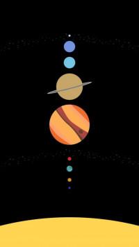 Planets Amled Dark Wallpaper