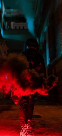 Anonymous Mask Man Bluish Wa