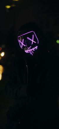 Anonymous Mask Man Dark Wall