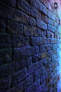 Blueish colour brick wall CB