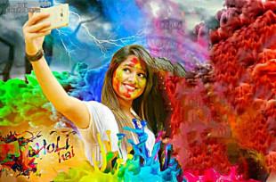 Happy Holi with Girl Editing