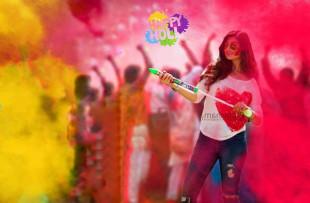 Happy Holi Girl PicsArt Edit