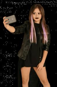 Taking Selfie Girl PNG   Tra