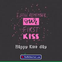 Happy Kiss Day Card Wish Gre