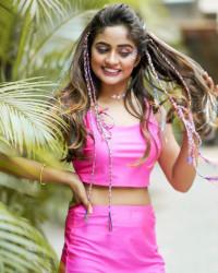 Nisha Guragain Cute Pink dre
