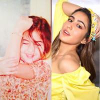 Cute Sara Ali Khan Then and