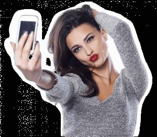 Girl Taking Selfie Photo PNG