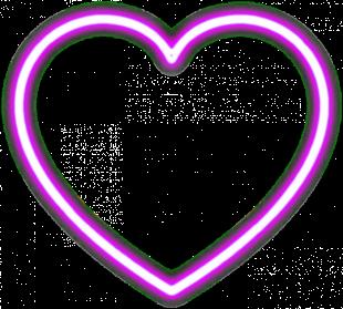 Neon Glowing Heart PNG Glowi