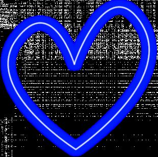 Neon Heart Effect PNG Transp