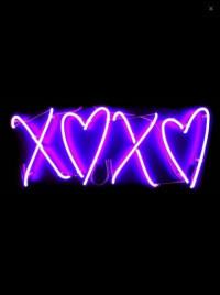 Neon Xoxo Effect PNG Transpa