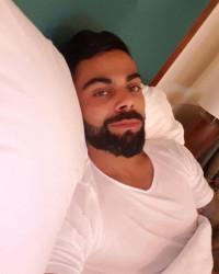 VIrat Kohli Sleeping Selfie