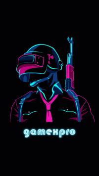 GameXpro PUBG Wallpaper Neon