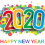 Happy New Year 2020 Text PNG HD Vector  (5)