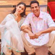 Cute Sara Ali Khan with Akshay Kumar hd Pics Wallpaper Images