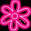 Neon Flower Effect PNG Transparent HD
