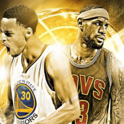 Le Bron James and Stephen Curry