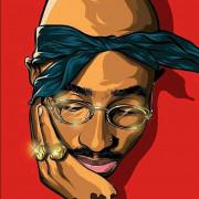 Tupac cartoon