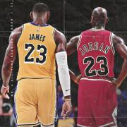 Le Bron James and Michael Jordan