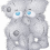 White Teddy Bear PNG Picture Cute